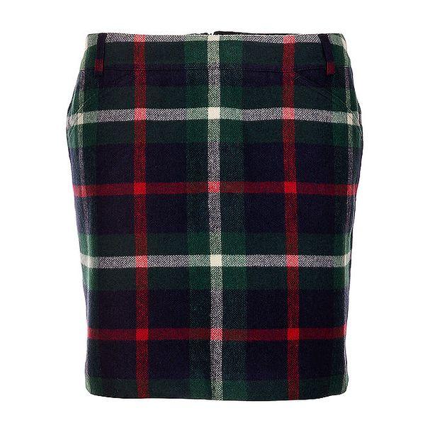 Zelená károvaná sukně Tommy Hilfiger