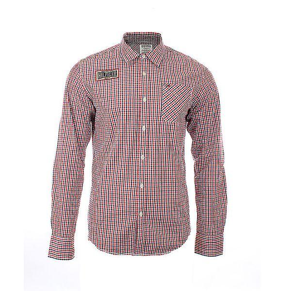 Pánská červeno-modrá kostkovaná košile Tommy Hilfiger