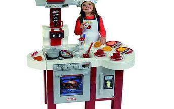 Dětská kuchyňka Miele s pultem, troubou, myčkou nádobí, digestoří a dalším příslušenstvím
