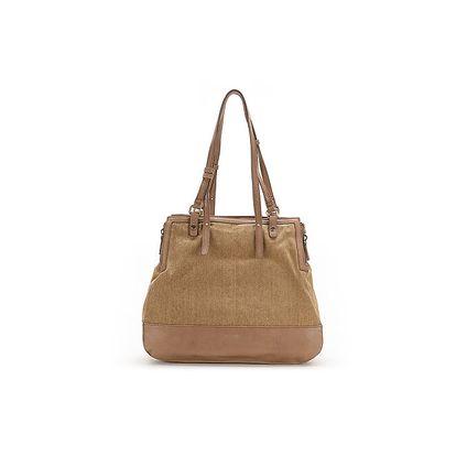 Dámská béžová kabelka s dvojitými zipy Abbacino