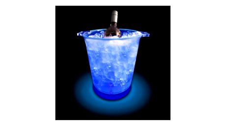 Svítící kbelík na led dodá každé vaší párty punc dokonalosti. Umělohmotný kbelík na zchlazení láhve obsahuje 9 LED diod, které osvítí celé vědro.