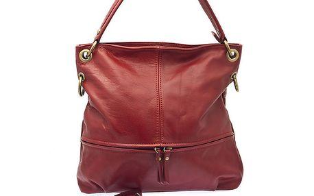 Dámská červená kožená kabelka Free for Humanity