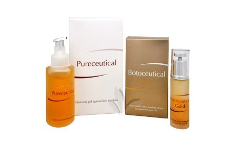 Herb Pharma Botoceutical Gold sérum 25 ml + Pureceutical - čistící gel proti jemným vráskám 125 ml