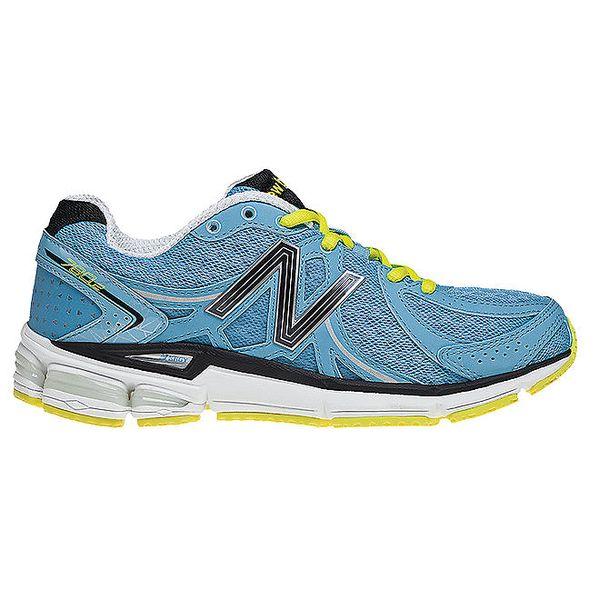 Dámské modré běžecké tenisky se žlutými detaily New Balance