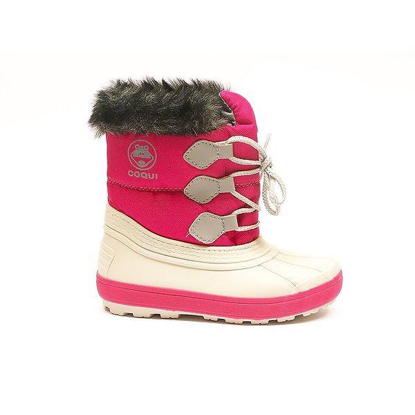 Dětské zimní růžovo-bílé boty Numero Uno