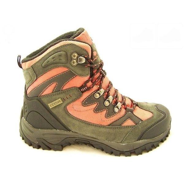 Dámské oranžovo-khaki trekové boty Numero Uno