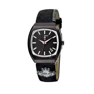Dámské hodinky Replay černé kožený pásek