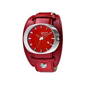 Dámské hodinky Replay červené