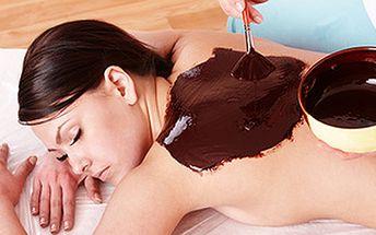 Báječný zážitek - čokoládový relaxační zábal. Procedura plná minerálů, vitamínů, koenzymů a antioxidantů.