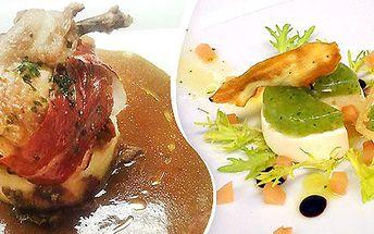 Gurmánské menu v restauraci Akademie
