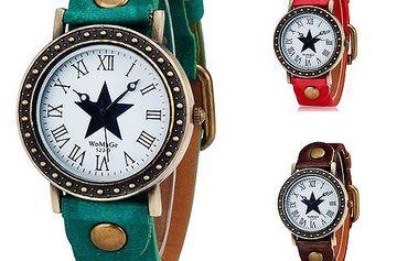 Retro hodinky s hvězdou - 3 barvy a poštovné ZDARMA! - 36003833