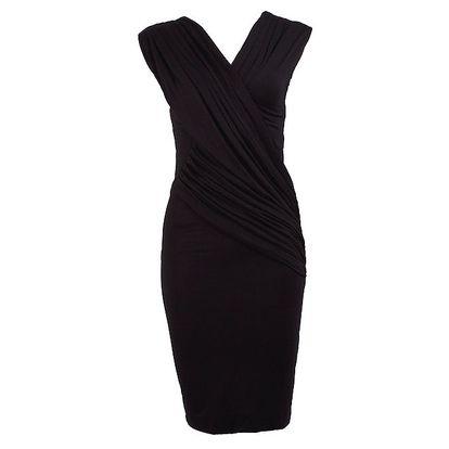 Dámské krátké černé zavinovací šaty CeMe London