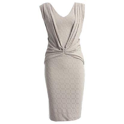 Dámské šedé šaty s károvaným povrchem CeMe London