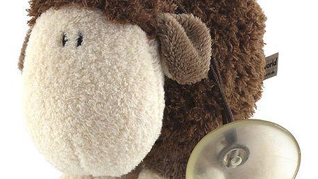 Nádherná plyšová ovečka s přísavkou z kolekce Sheepworld, barva hnědá, 15 cm