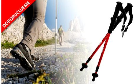 Pár trekingových holí s kompasem za 199 Kč! Teleskopické hole s odpružením šetří vaše klouby a zajistí správné držení těla při sportu!