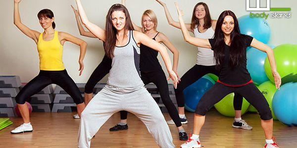 Hodina zumby ve fitness centru Body Island