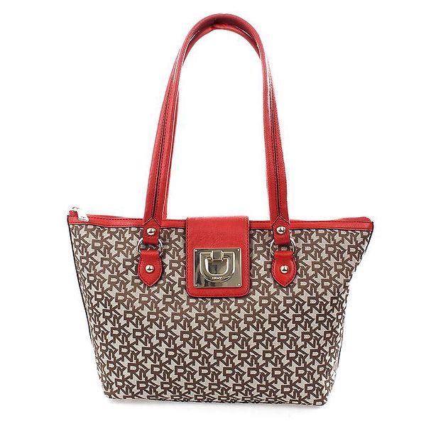 Dámská červeno-hnědá kabelka DKNY