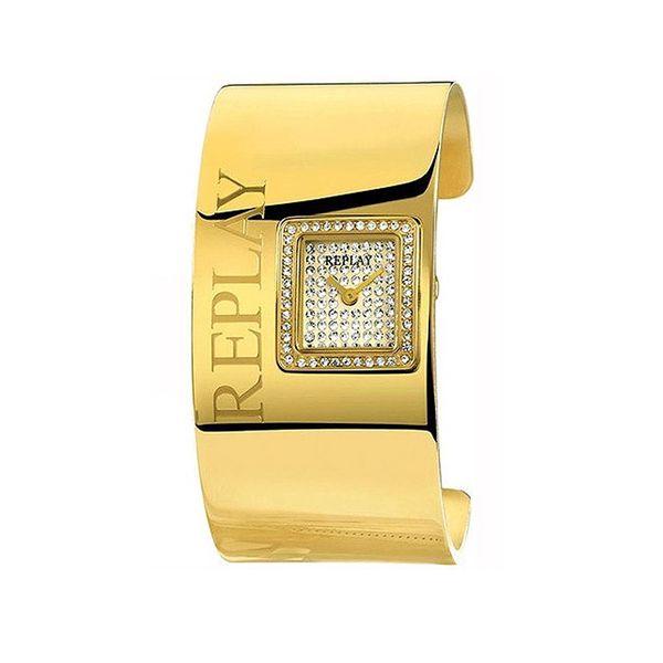 Dámské hodinky Replay zlaté nápis