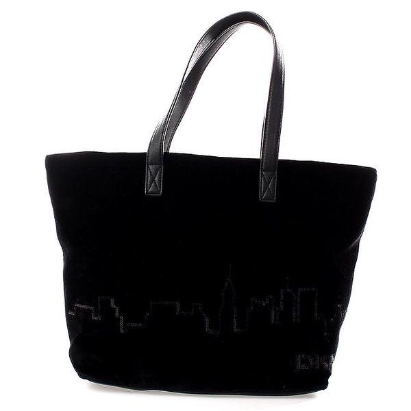 Dámská černá sametová kabelka s flitry DKNY