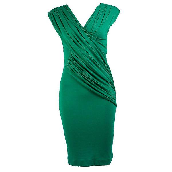 Dámské krátké zelené zavinovací šaty CeMe London