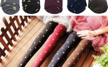 Barevné punčochy s puntíky - 5 barev a poštovné ZDARMA! - 34406232