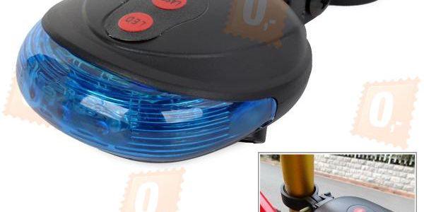Zadní světlo (blikačka) na kolo s laserem a poštovné ZDARMA! - 34206229