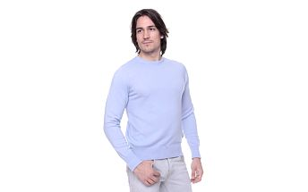 Pánský světle modrý svetr s kašmírem Ballantyne