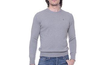 Pánský šedý svetr s kašmírem Ballantyne