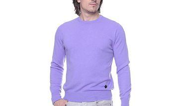 Pánský světle fialový svetr s kašmírem Ballantyne