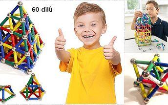 Skvělá hra pro všechny šikovné děti! Magnetická stavebnice, při které si i ti nejmenší procvičí svoji fantazii, zdatnost a šikovnost a to díky této hře bez hranic.