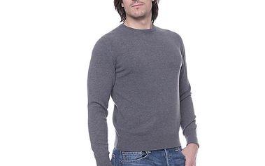 Pánský tmavě šedý svetr s kašmírem Ballantyne