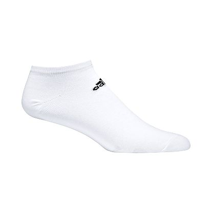 Ponožky unisex - adidas thin corporate liner 3p white