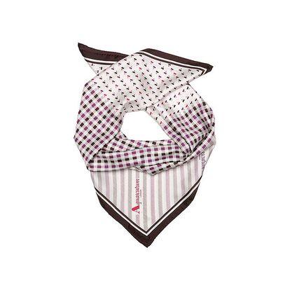 Dámský šátek Aquascutum s fialovými kostičkami