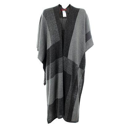 Dámský šedý elegantní šál s alpakou Max Mara