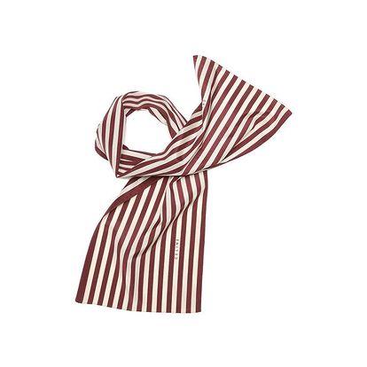 Dámský bordó pruhovaný šátek Céline