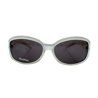 Dámské transparentní bílé sluneční brýle Max Mara