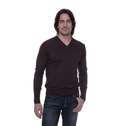 Pánský hnědý svetr s kašmírem Ballantyne