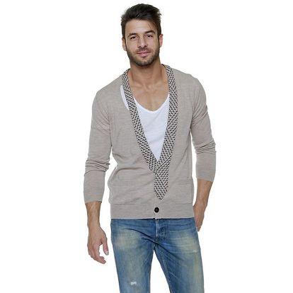 Pánský béžový svetr s kravatou Jean Paul Gaultier