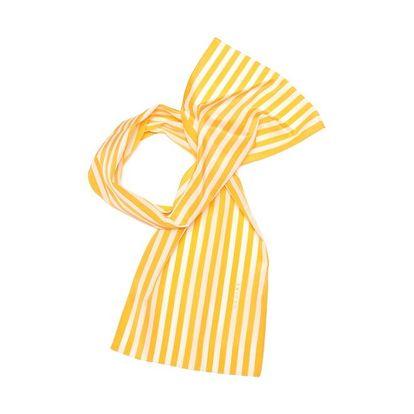 Dámský oranžově pruhovaný šátek Céline