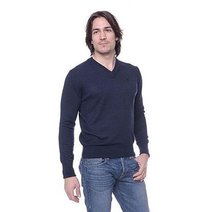 Pánský tmavě modrý svetr s kašmírem Ballantyne