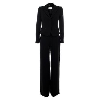 Dámský černý kalhotový kostým Max Mara