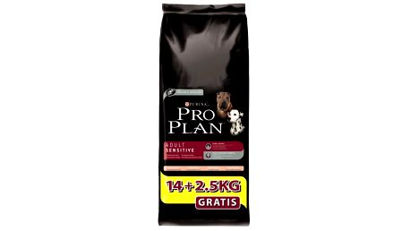 Purina Pro Plan Dog Adult Sensitive Salmon 14+2,5 kg pro citlivější dospělé psy