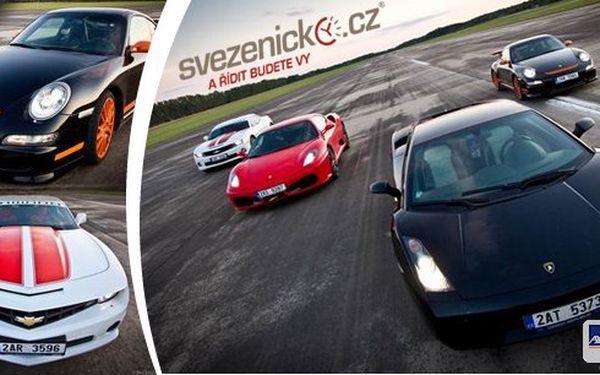 Jízda v supersportuLamborghini, Ferrari, Porsche a Camaro SS. Tyto nejluxusnější vozy čekají až je protáhnete a užijete si jízdu svých snů