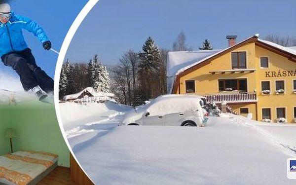 Lyžování s ubytováním v Jizerských horách. Útulný apartmán na 3 dny/ 2 noci na klidném místě Jizerských hor. V ceně pobytu dětský lyžařský vlek! Vhodné pro páry nebo rodiny!