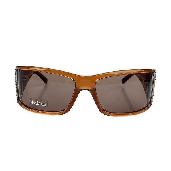 Dámské jantarové sluneční brýle Max Mara