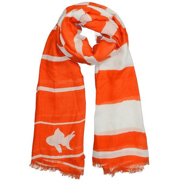 Úžasný šátek Orange Goldfish od Winky design
