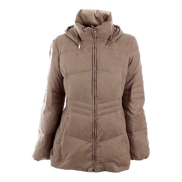 Dámská béžová prošívaná zimní bunda Max Mara