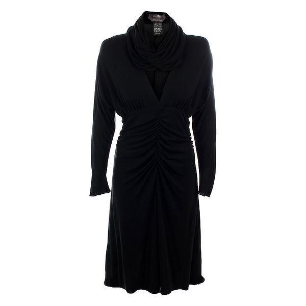 Dámské čené šaty s límcem Max Mara
