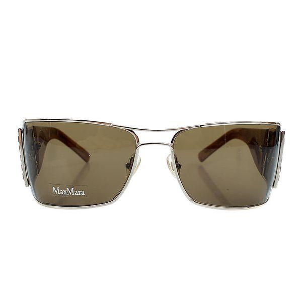 Dámské sluneční brýle s jantarovými stranicemi Max Mara