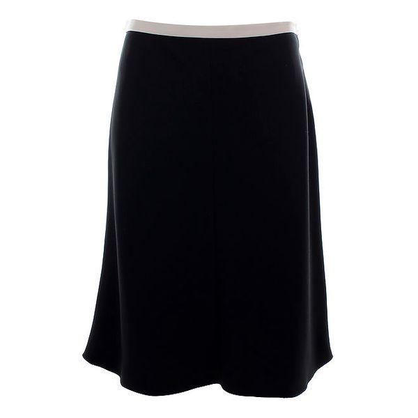 Dámská černá sukně s bílým lemem Max Mara